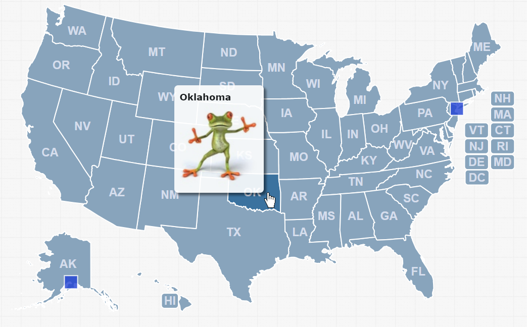 How to add images to a popup - HTML5/JavaScript Interactive Map
