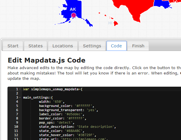 About The Online Map Customization Tool HTMLJavaScript - Us map interactive edit