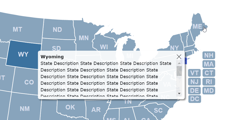 Make map popups scrollable  HTML5JavaScript Interactive Map