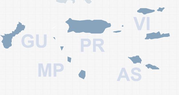 Add US Territories HTMLJavaScript Interactive Map - Map us territories