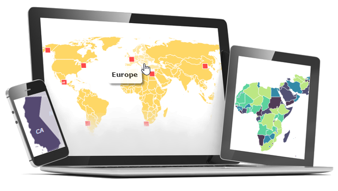 Interactive HTML And JavaScript Maps For Websites Simplemapscom - Html5 us map