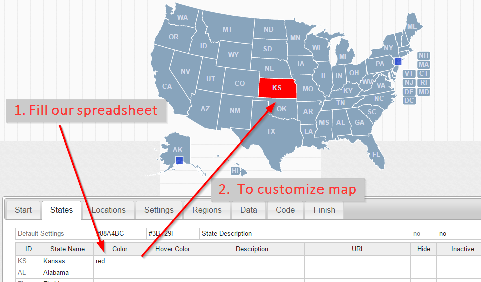 Tutorial create a free usa map using svg resources Create a map online free